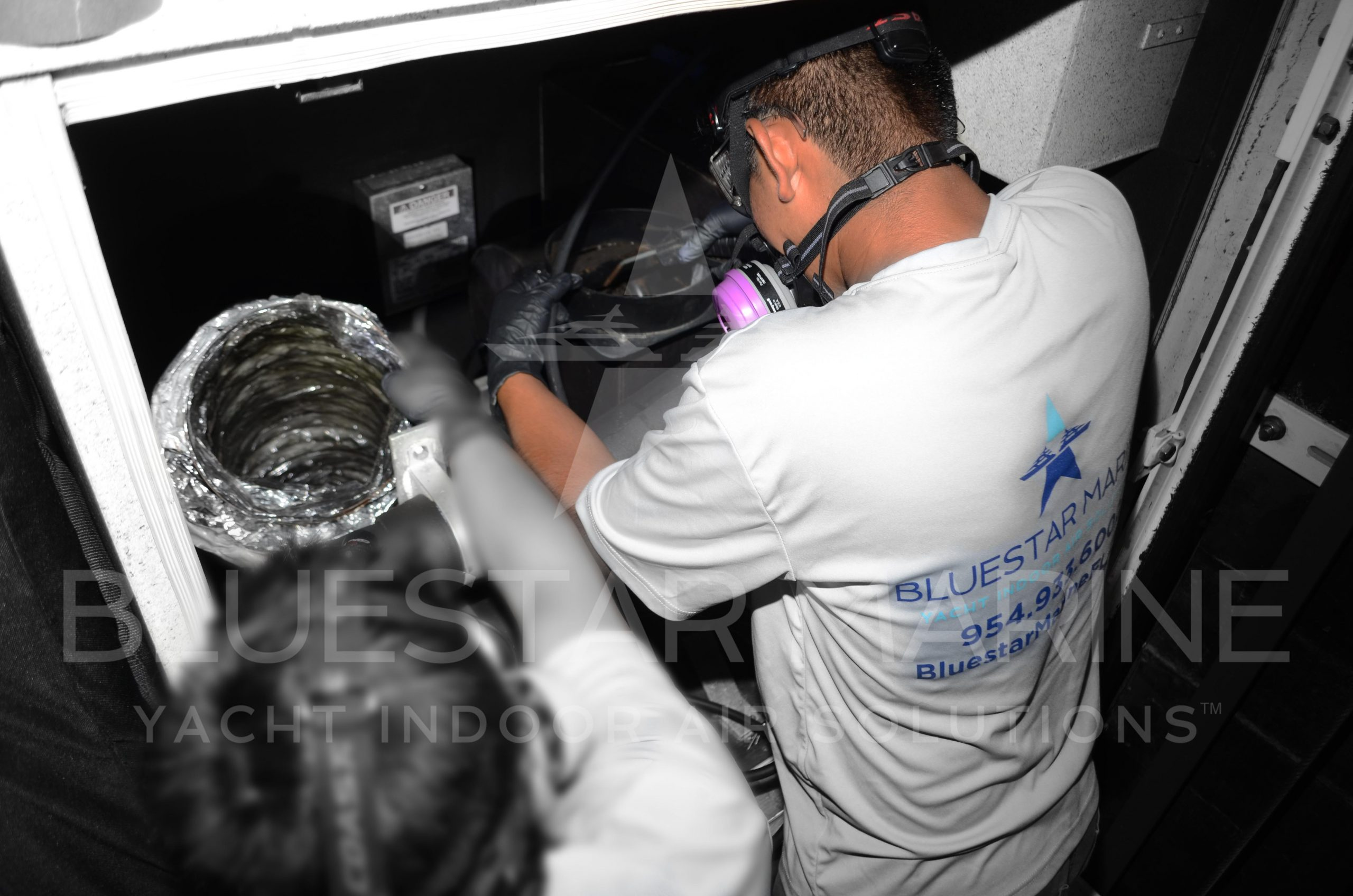 Air handler cleaning in Yachts